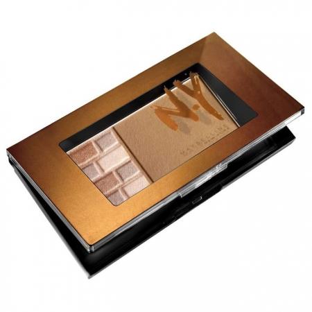Paleta Pentru Bronz Si Iluminare Maybelline FaceStudio Bricks Bronzer - 02 Brunettes, 7 gr2