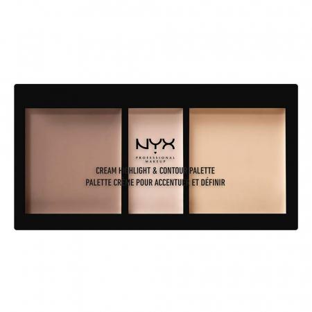 Paleta Pentru Conturarea Fetei NYX Professional Makeup Highlight & Contour, Light