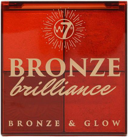 Paleta Profesionala pentru Bronzare, Contur si Iluminare W7 Bronze Brilliance Bronze & Glow Palette, 64 g1