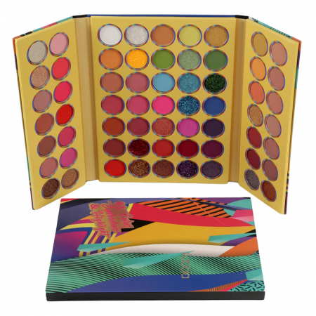 Paleta Profesionala de Farduri Fabbla Color Eyeshadow & Highlight, 63 Culori