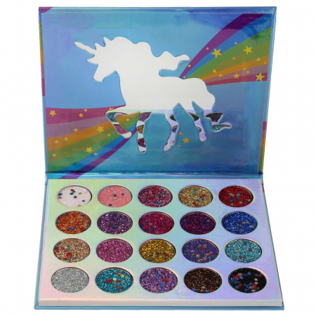 Kit Sclipici cu 20 Glittere Multifunctionale, Unicorn Love