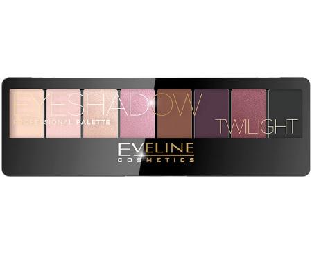 Paleta Profesionala de Farduri EVELINE Twilight Eyeshadow Palette, 8 nuante