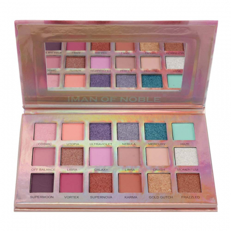 Paleta Profesionala de Farduri Iman Of Noble, 18 Color Eyeshadow Palette, 18 x 1 g1