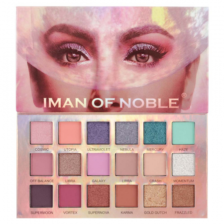 Paleta Profesionala de Farduri Iman Of Noble, 18 Color Eyeshadow Palette, 18 x 1 g