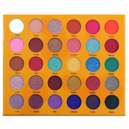 Paleta Profesionala de Farduri Romanky, 30 Color Eyeshadow Palette, 36 g1