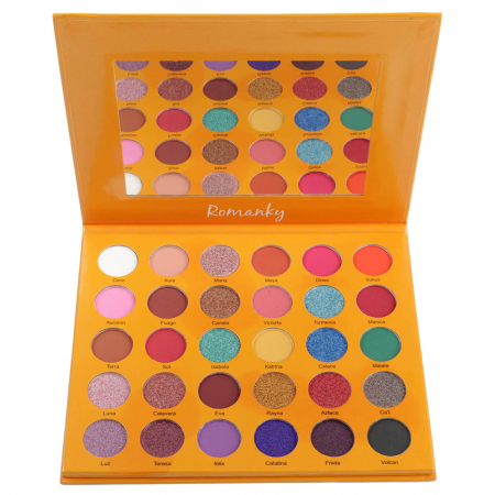 Paleta Profesionala de Farduri Romanky, 30 Color Eyeshadow Palette, 36 g2