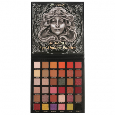 Paleta Profesionala de Farduri Igoodco, Medusa, 36 Colors Eye Shadow Palette, 36 x 1.35 g3