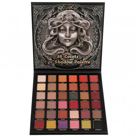 Paleta Profesionala de Farduri Igoodco, Medusa, 36 Colors Eye Shadow Palette, 36 x 1.35 g