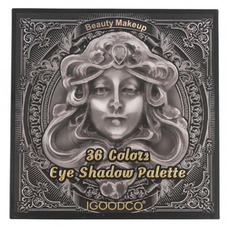 Paleta Profesionala de Farduri Igoodco, Medusa, 36 Colors Eye Shadow Palette, 36 x 1.35 g1