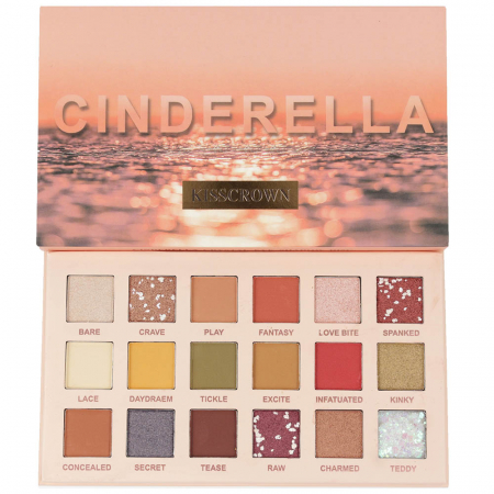 Paleta Profesionala de Farduri CINDERELLA Kiss Crown, 18 Color Eyeshadow Palette