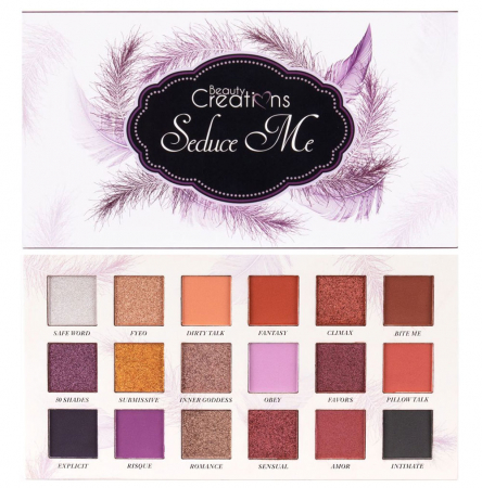 Paleta Profesionala de Farduri Beauty Creations Seduce Me, 18 culori, 21.6 g