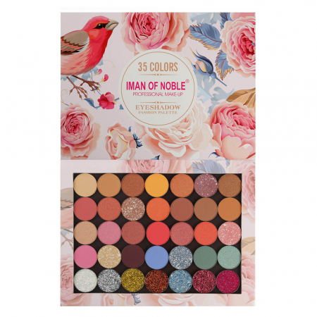 Paleta Profesionala de Farduri Iman Of Noble, 35 Color Eyeshadow Palette, 35 x 1.5 g