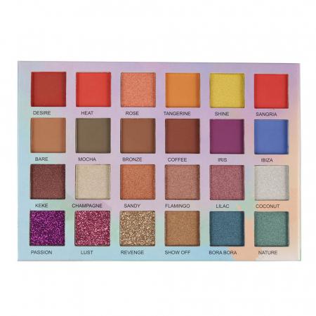 Paleta Profesionala de Farduri Glamierre, Island Babe, 24 Ultra Pigmented Eyeshadows & Glitters1
