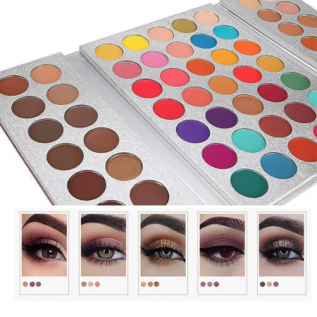 Paleta Profesionala de Farduri Beauty Glazed Gorgeous Me, Eye Shadow Tray, 63 Culori15