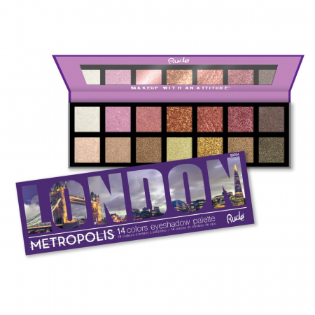 Paleta Profesionala de Farduri Rude Metropolis LONDON, 14 Colors Eyeshadow Palette