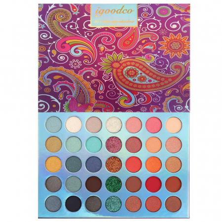 Paleta Profesionala de Farduri Igoodco, 35 Color Eyeshadow Palette, 36 x 1.5 g