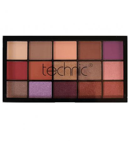 Paleta Profesionala de Farduri Technic 15 Pressed Pigment Palette, Peanut Butter & Jelly, 15 Culori, 30 g8