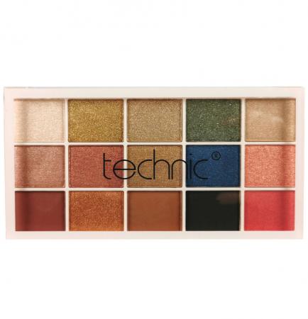 Paleta Profesionala de Farduri Technic 15 Pressed Pigment Palette, Goddess 15 Culori, 30 g3