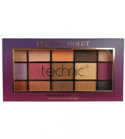 Paleta Profesionala de Farduri Technic 15 Pressed Pigment Palette, Persian Violet, 15 Culori, 30 g0