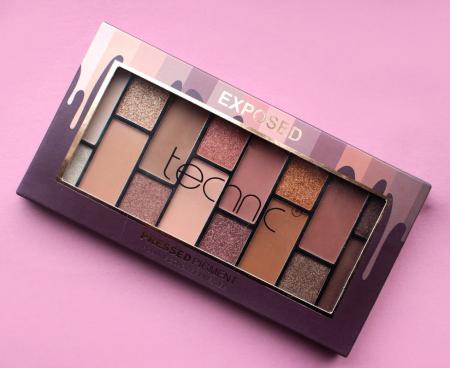 Paleta Profesionala de Farduri Technic Pressed Pigment Palette, EXPOSED, 16 Culori Nude2
