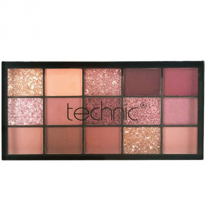 Paleta Profesionala de Farduri Technic 15 Pressed Pigment Palette, Invite Only, 15 Culori, 21.9 g10