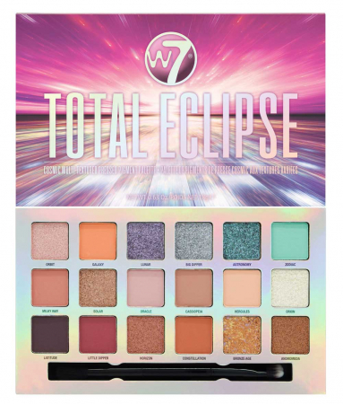 Paleta Profesionala de Farduri W7 Total Eclipse Pigment Palette, 18 Culori, 18 g
