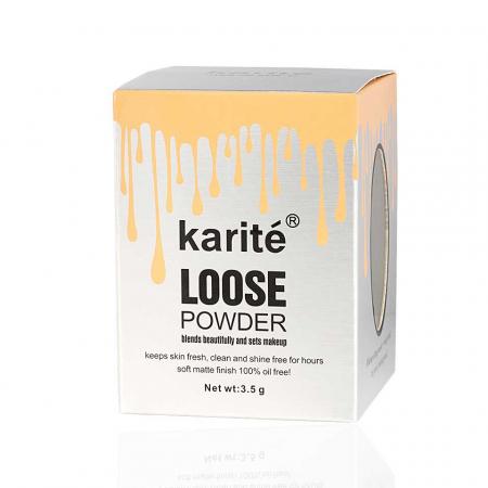 Iluminator pudra cu pompita Vintage, Karite Loose Powder, 02 Argintiu, 3.5 g1