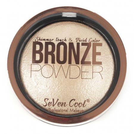 Pudra Profesionala Iluminatoare, Seven Cool, Bronze Powder, Shimmer Touch, 01 Vanilla0