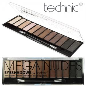Trusa Profesionala Cu 12 Farduri Pigmentate TECHNIC Mega Nudes, 18g1