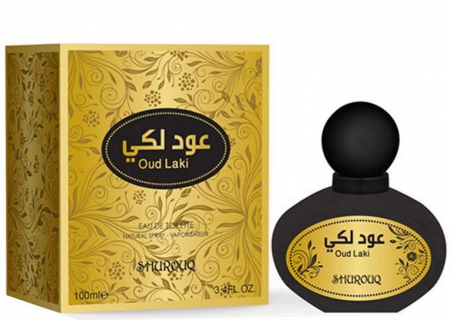Parfum arabesc unisex, Oud Laki by SHUROUQ EDT, 100 ml