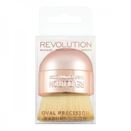 Pensula Pentru Aplicarea Pudrei Makeup Revolution  Oval Precision Kabuki Brush1
