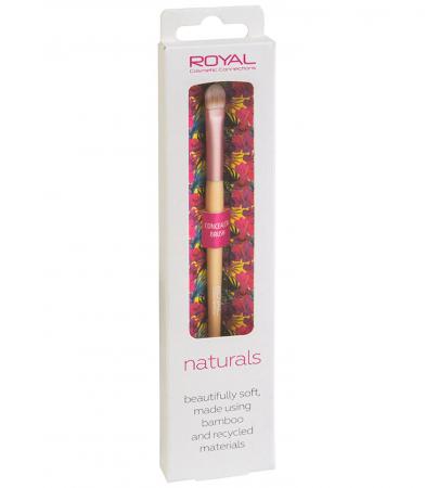 Pensula din bambus pentru aplicarea corectorului ROYAL Natural Concealer Brush, 100% Eco-friendly2