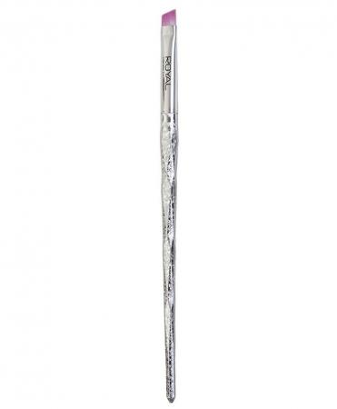 Pensula unghiulara pentru sprancene ROYAL Prismatic Angled Eye & Brow Brush, 17 cm