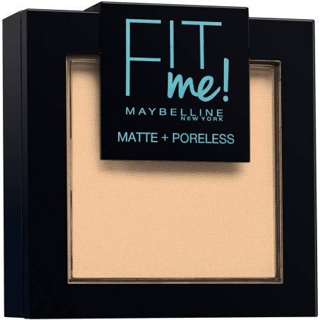Pudra compacta Maybelline New York Fit Me Matte & Poreless Powder, 128 Warm Nude