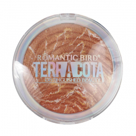 Pudra Iluminatoare bronzanta, Romantic Bird TERRACOTTA, 01 Bronze Gold, 12 g1