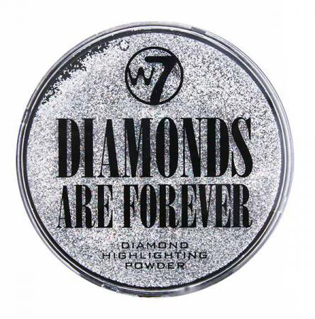 Pudra iluminatoare W7 Diamonds Are Forever Highlighting Powder, Particule Argintii0