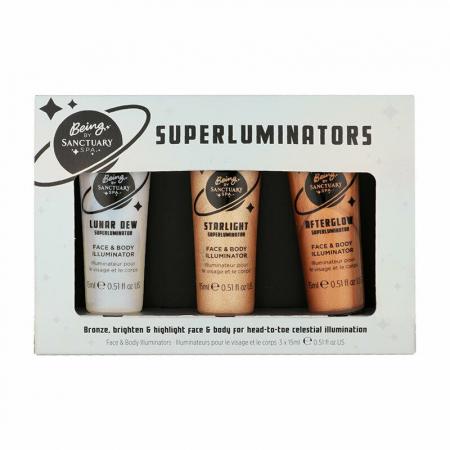 Set Iluminatoare pentru ten si corp Being by SANCTUARY SPA Superluminators, 3 x 15 ml
