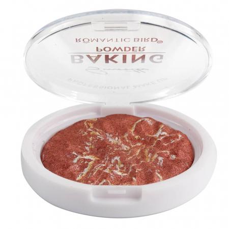 Pudra Profesionala cu Irizatii Aurii, Romantic Bird, BAKING POWDER, 03 Rhubarb Cake, 12 g0