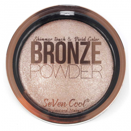 Pudra Profesionala Iluminatoare, Seven Cool, Bronze Powder, Shimmer Touch, 02 Rose Gold0