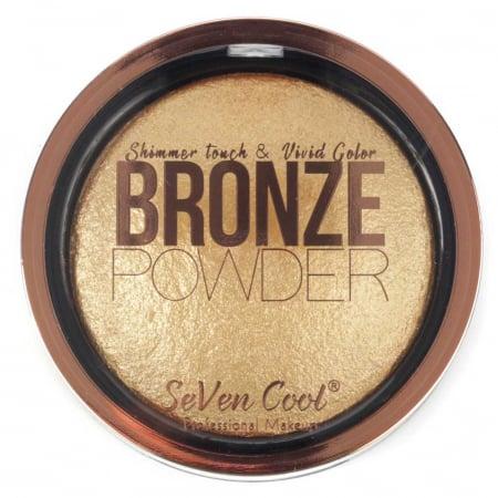 Pudra Profesionala Iluminatoare, Seven Cool, Bronze Powder, Shimmer Touch, 04 Gold0
