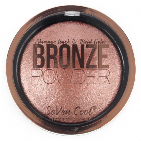 Pudra Profesionala Iluminatoare, Seven Cool, Bronze Powder, Shimmer Touch, 05 Pink Diamond0