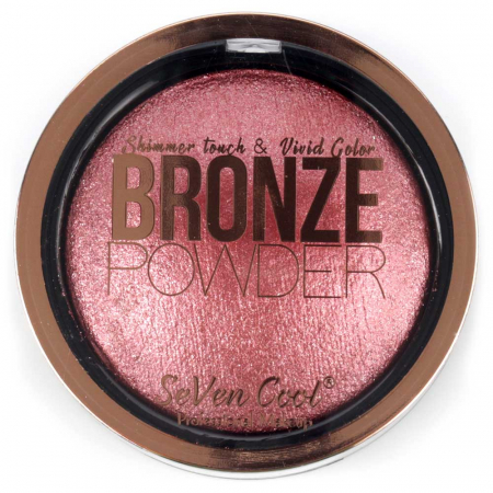 Pudra Profesionala Iluminatoare, Seven Cool, Bronze Powder, Shimmer Touch, 06 Holographic Pink