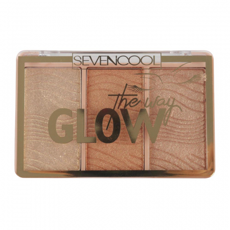 Paleta Iluminatoare, Seven Cool, GLOW The way, 04 Gold Diamonds, 6 g1