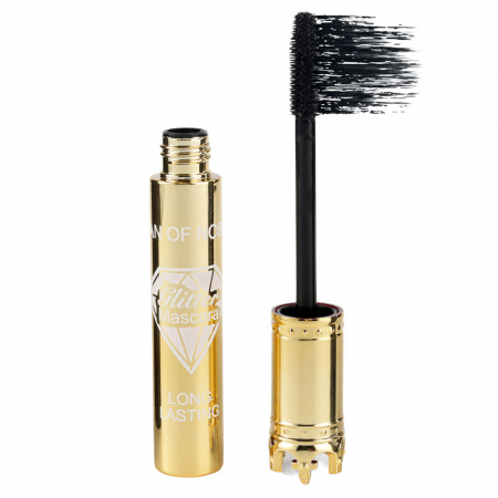 Rimel pentru volum si alungire Iman Of Noble Mascara, Negru Intens, Gold Crown, 10 ml