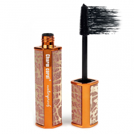 Rimel pentru volum 4D Charm Coral Waterproof Mascara, Negru Intens, Bronze Diamonds, 10 ml