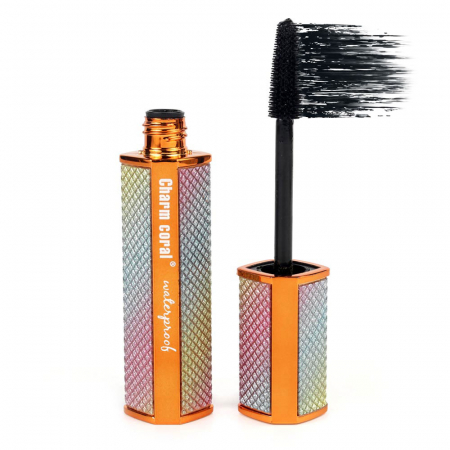 Rimel pentru volum 4D Charm Coral Waterproof Mascara, Negru Intens, Rainbow Diamonds, 10 ml