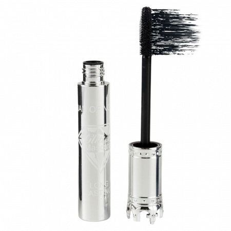 Rimel pentru volum si alungire Iman Of Noble Mascara, Negru Intens, Silver Crown, 10 ml