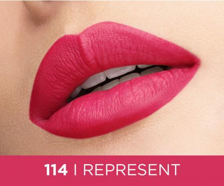 Ruj lichid mat L'Oreal Paris Rouge Signature 114 I Represent, 7 ml1