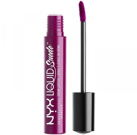 Ruj lichid mat NYX Professional Makeup Liquid Suede Cream, 41 Electric slide, 4 ml