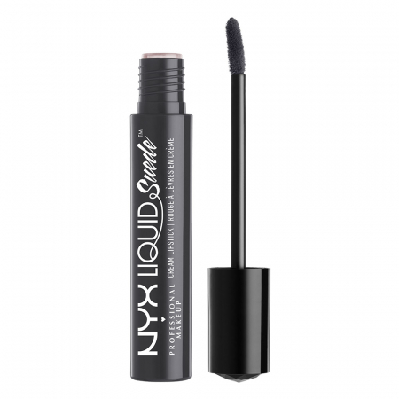 Ruj lichid mat NYX Professional Makeup Liquid Suede Cream, 01 Stone Fox, 4 ml0